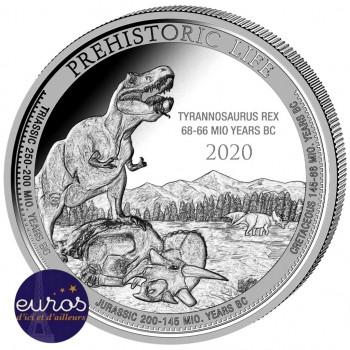 CONGO 2020 - Le T-Rex - La Vie Préhistorique - 1oz argent (1)