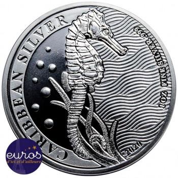 ILE de la BARBADE 2020 - 1$ BBD - Hippocampe des Caraïbes - 1oz argent - Bullion