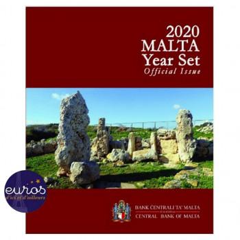 "Set BU MALTE 2020 incluant la 2€ commémorative Skorba - Mintmark "" F """