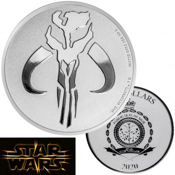 NIUE 2020 - 2$ NZD - Mythosaure Mandalorien™ - 1oz argent - Star Wars™ - Bullion Coin