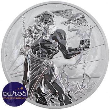 TUVALU 2020 - 1$ TVD - Dieux de l'Olympe : Zeus - 1 oz argent 999‰ - Bullion Coin (n°1)