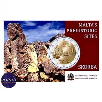 Coincard 2 euros commémorative MALTE 2020 - Skorda - Mintmark MdP - UNC