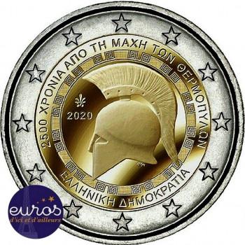 2 euros commémorative GRECE 2020 - Bataille des Thermopyles - UNC