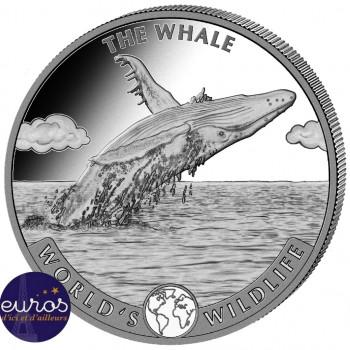CONGO 2020 - La Baleine - World´s Wildlife - 1oz argent (2)