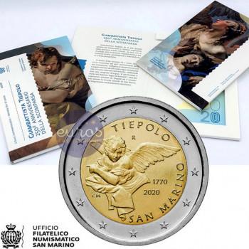 2 euros commémorative SAINT MARIN 2020 - Giambattista Tiepolo - BU