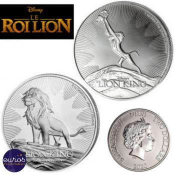 Duo NIUE 2019 et 2020 - 2 x 2$ NZD Le Roi Lion™ 2 x 1oz argent - Disney™