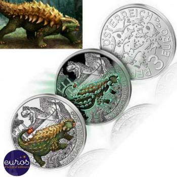 3 euros AUTRICHE 2020 - Ankylosaurus Magniventris - Série Dinosaures (4/12)