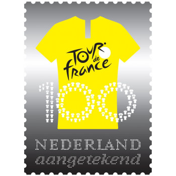 Timbre PAYS BAS en argent 2019 - Le Tour de France