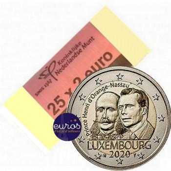 Rouleau 25 x 2 euros commémoratives LUXEMBOURG 2020 - Bicentenaire Naissance Prince Henri - UNC