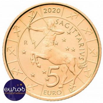5 euros commémorative SAINT MARIN 2020 - Horoscope - Sagittaire - 9/12