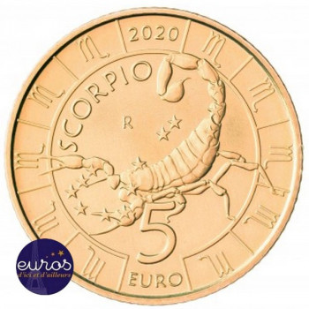 5 euros commémorative SAINT MARIN 2020 - Horoscope - Scorpion - 8/12