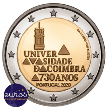2 euros commémorative PORTUGAL 2020 - Université de Coimbra - UNC
