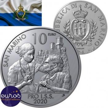10 euros commémorative SAINT MARIN 2020 - Pro I.S.S. - UNC