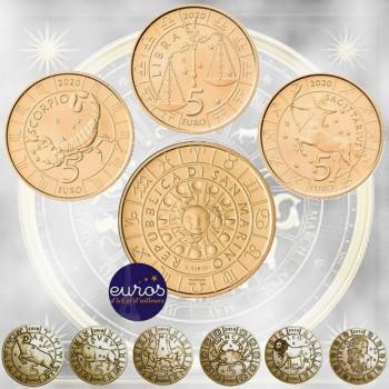 Coffret 9 x 5 euros commémoratives SAINT MARIN 2018 - 2019 et 2020 - Horoscope