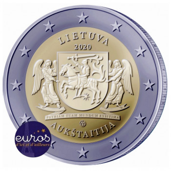 2 euros commémorative LITUANIE 2020 - Aukštaitija - Régions Ethnographiques Lituaniennes - UNC
