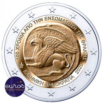 2 euros commémorative GRECE 2020 - Union Thrace-Grèce - UNC