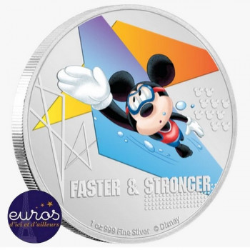 NIUE 2020 - 2$ NZD MICKEY MOUSE™ - Faster and Stronger, Swimming - Disney™ (2)