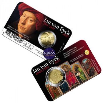 Coincard FR 2 euros BELGIQUE 2020 - Version Française - Année Jan Van Eyck - BU