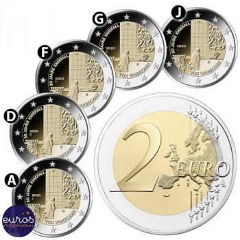 5 x 2 euros commémoratives ALLEMAGNE 2020 - 50 ans de la Génuflexion à Varsovie - ADFGJ - UNC