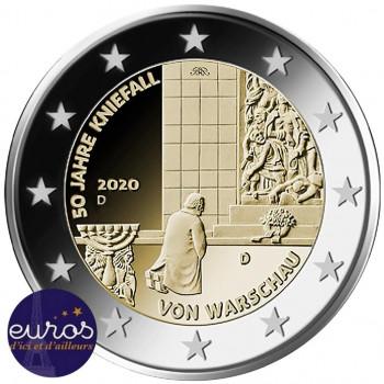 2 euros commémorative ALLEMAGNE 2020 - 50 ans de la Génuflexion à Varsovie - UNC