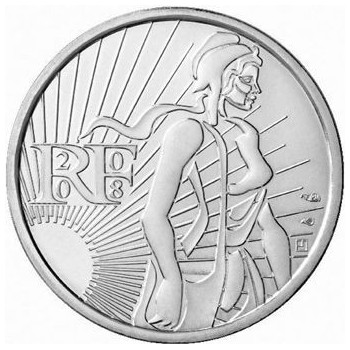 5 euros Argent France 2008...