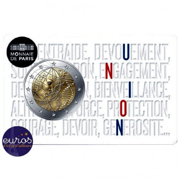 Coincard 2 euros commémorative FRANCE 2020 - Union - Brillant Universel