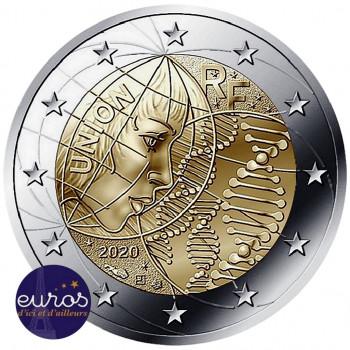 3 x coincards 2 euros commémoratives FRANCE 2020 - Union, Héros et Merci - Brillant Universel