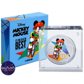 NIUE 2020 - 2$ NZD MICKEY MOUSE™ - It's Time to Be the Best, Cycling - Disney™ (3)