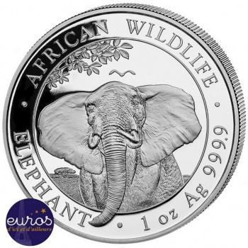 SOMALIE 2021 - 1 oz argent - Elephant, Faune Africaine - African Wildlife - Bullion