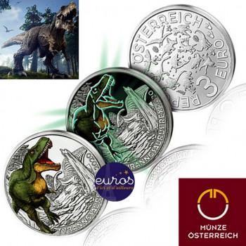 3 euros AUTRICHE 2020 - Tyrannosaurus Rex - Série Dinosaures (5/12)
