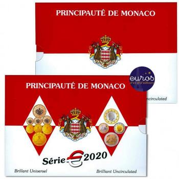 Set BU MONACO 2020 - Série 1 cent à 2 euros - Brillant Universel