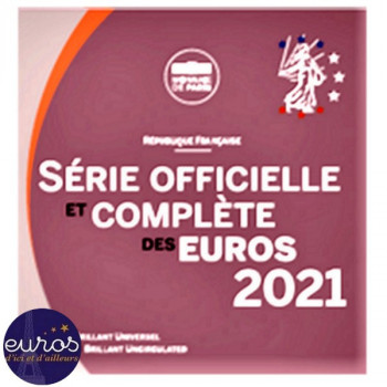 Set BU FRANCE 2021 - Série 1 cent à 2 euros Brillant Universel - Monnaie de Paris