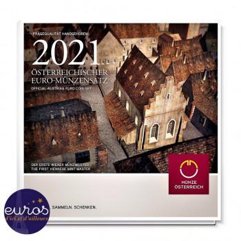 Set BU AUTRICHE 2021 - Monnaie de Vienne - Série 1 cent à 2 euros -  Brillant Universel