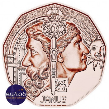 5 euros AUTRICHE 2021 - Nouvelle Année : Janus - Cuivre