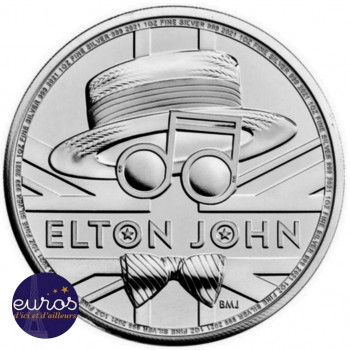 GRANDE-BRETAGNE 2020 - 2£ Elton John - Légendes Musicales - 1oz Argent 999,99‰ - Bullion