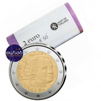 Rouleau 25 x 2 euros commémoratives FINLANDE 2020 - Väinö Linna - UNC