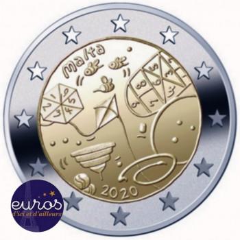 2 euros commémorative MALTE 2020 - Jeux - UNC