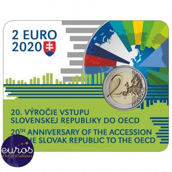 Coincard 2 euros SLOVAQUIE 2020 - Entrée dans l'OCDE - BU