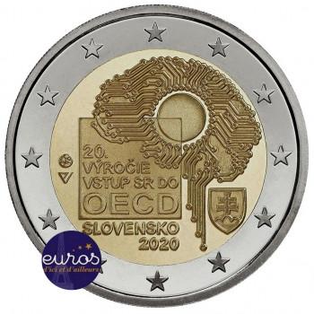 Rouleau 25 x 2 euros commémoratives SLOVAQUIE 2020 - Entrée dans l'OCDE - UNC