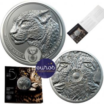 AFRIQUE du SUD 2020 - Big Five - Le Léopard - Argent 1 Oz - Bullion Coin (n°4)