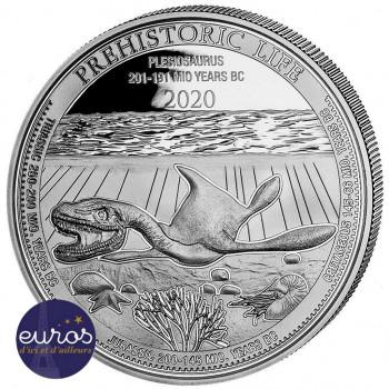CONGO 2020 - Le Plésiosaure - La Vie Préhistorique - 1oz argent (2)
