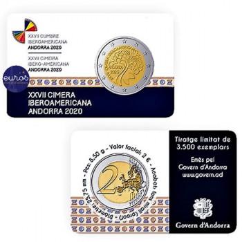 2 euros commémorative ANDORRE 2020 - Sommet Ibero-Américain - Belle Epreuve