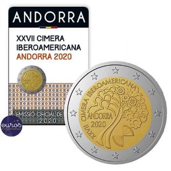 2 euros commémorative ANDORRE 2020 - Sommet Ibero-Américain - UNC