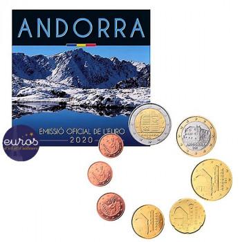 Set BU ANDORRE 2020 - Série 1 cent à 2 euros - Brillant Universel