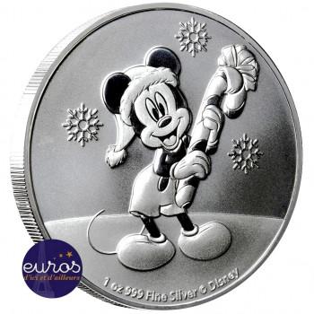 NIUE 2020 - 2$ NZD Mickey Mouse™ Nöel - 1oz argent - Disney™