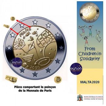 Coincard 2 euros commémorative MALTE 2020 - Jeux - Mintmark MdP - UNC