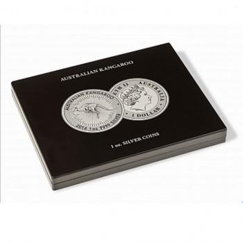 Coffret pour 20 monnaies KANGOUROU argent 1 once sous capsules, noir - LEUCHTTURM - 355190