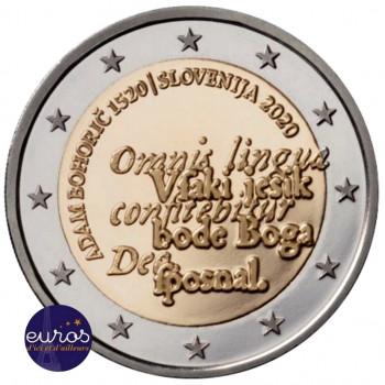 Rouleau 25 x 2 euros commémoratives SLOVENIE 2020 -  Adam Bohorič - UNC
