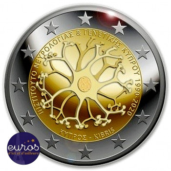 Rouleau 25 x 2 euros commémoratives CHYPRE 2020 - 30 ans de l'lnstitut de Neurologie et Génétique - UNC