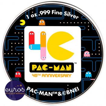 NIUE 2020 - 2$ NZD PAC-MAN™ Couleur - 1oz argent
